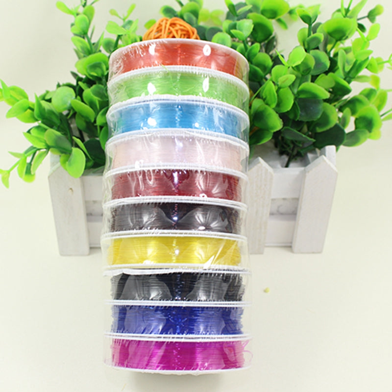0.8mm 10 roll Diy crystal line elastic line elastic beads fishing line jewelry elastic nylon bracelet bracelets rope 019004004