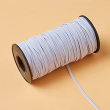 "4meters 1/4""(6mm) White Elastic Band Black Flat Elastic Ribbon Clothing Bags Trousers Elastic Rubber Webbing DIY Sew Accessories"