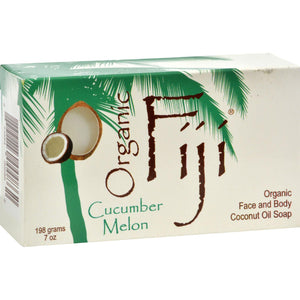 Organic Fiji Coconut Oil Soap Organic Cucumber - 7 Oz