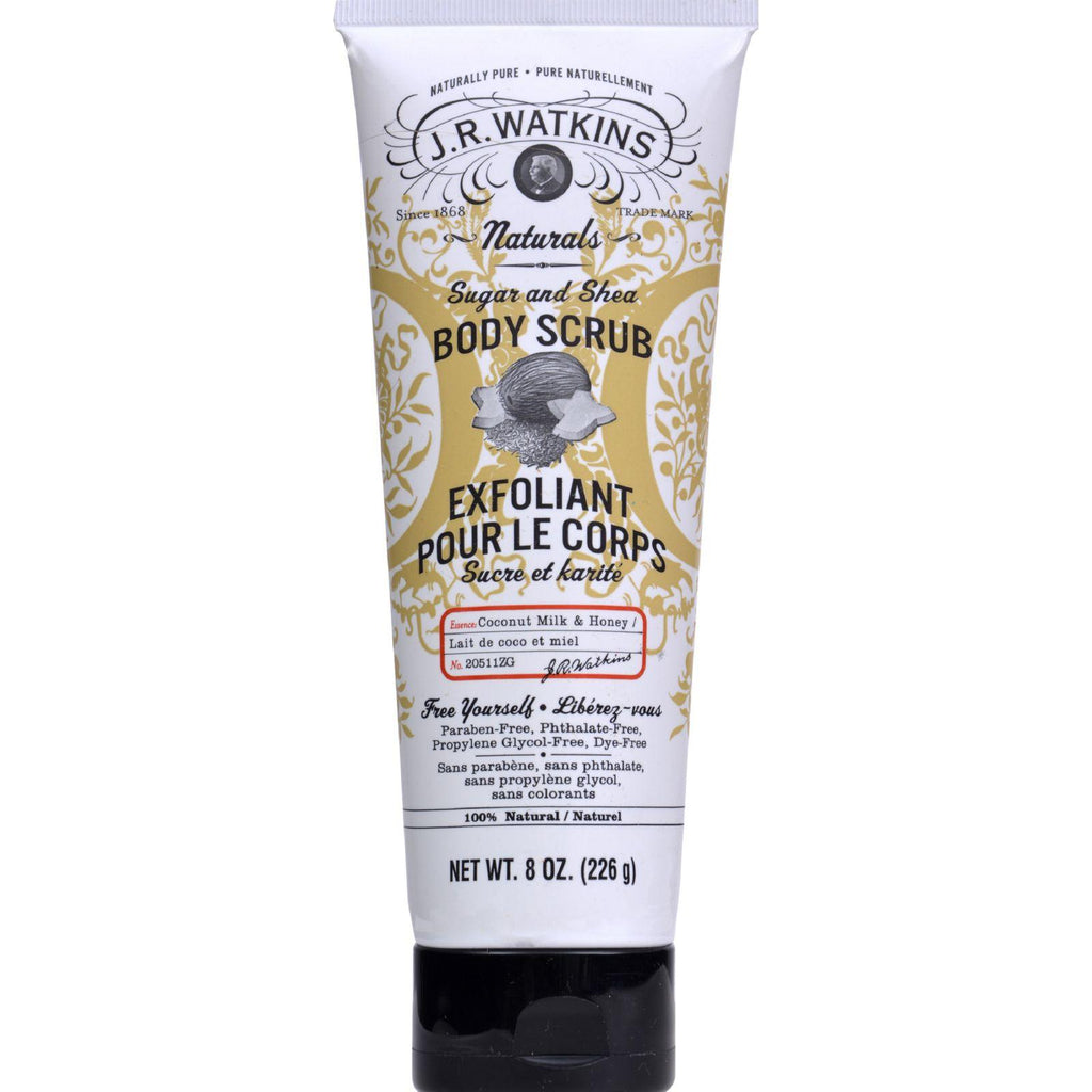 J.r. Watkins Coconut Sugar And Shea Body Scrub - 8 Oz