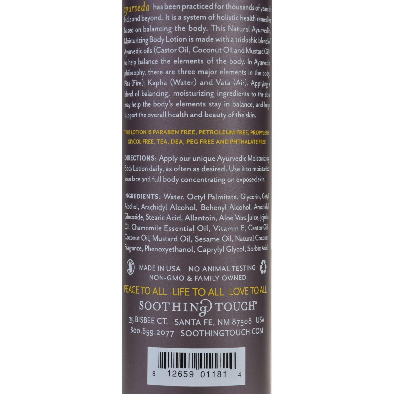 Soothing Touch Body Lotion - Ayurveda - Island Coconut - 8 Oz