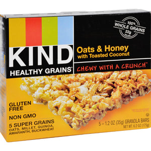 Kind Bar - Granola - Healthy Grains - Oats & Honey W. Toasted Coconut - 1.2Oz - 5 Count - Case Of 8