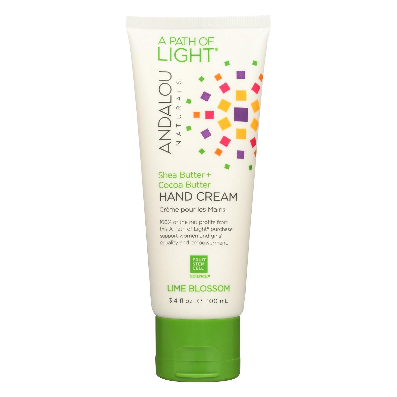 Andalou Naturals Hand Cream - A Force Of Nature Shea Butter Plus Coconut Water -Lime Blossom- 3.4 Oz