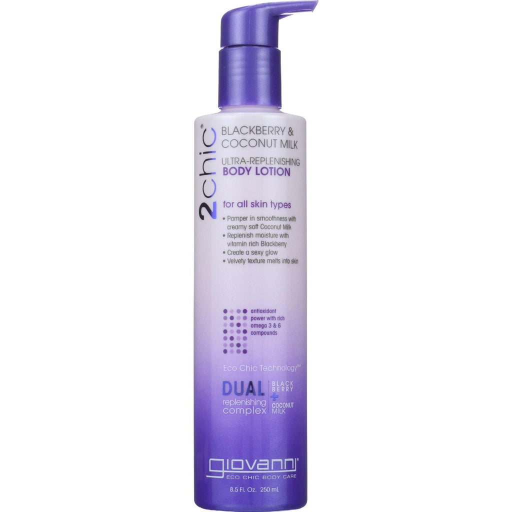 Giovanni Hair Care Products Lotion - 2chic - Ultra-replenishing - Blackberry & Coconut Milk - 8.5 Oz