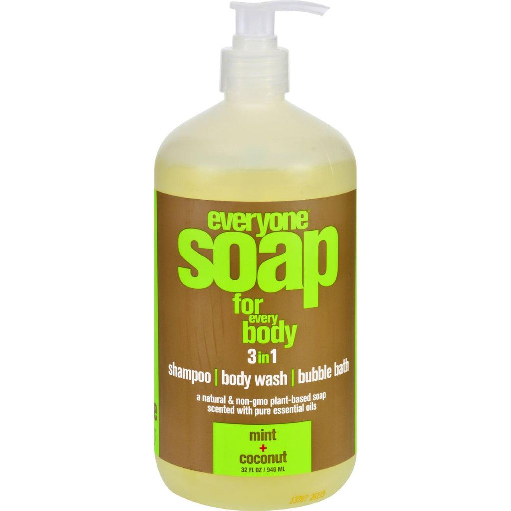 Eo Products Hand Soap - Natural - Everyone - Liquid - Mint And Coconut - 32 Oz