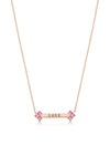 Palaso ID Necklace - Rose Gold and Pink Sapphire