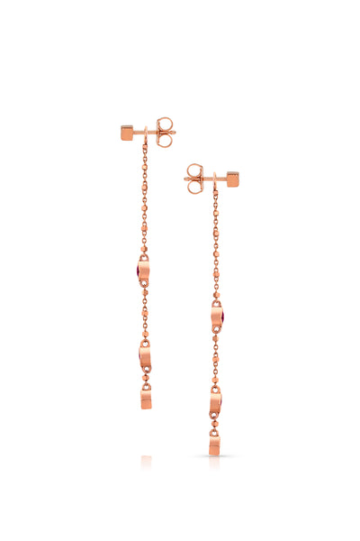 MALIIT Linear Opal and Diamond Enhancers - Rose Gold