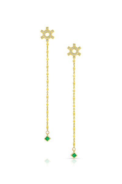 Maliit Princess Earring Enhancers - Emerald