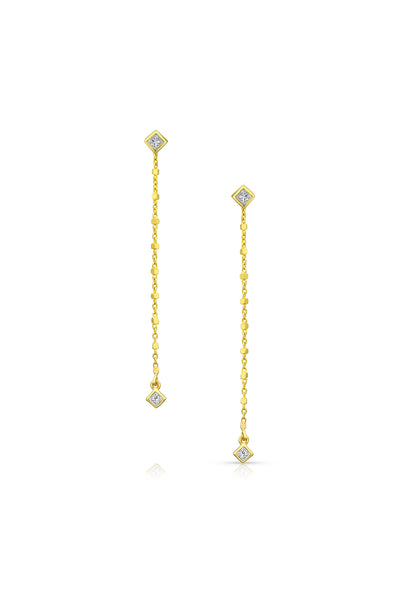 Maliit Princess Earring Enhancers - White Diamond