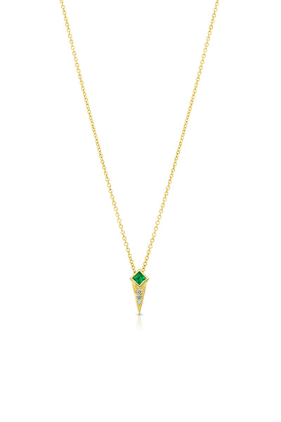 Maharlika Spike Necklace - Yellow Gold and Emerald