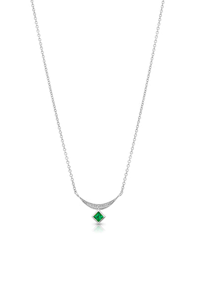Maharlika Princesa Necklace - White Gold and Emerald