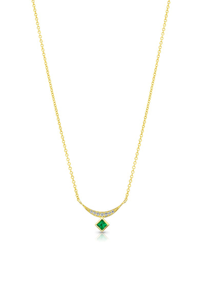 Maharlika Princesa Necklace - Yellow Gold and Emerald