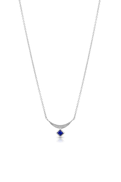 Maharlika Princesa Necklace - White Gold and Sapphire