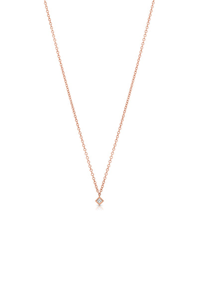 Maliit Princess Necklace - Rose Gold and White Diamond