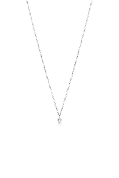 Maliit Princess Necklace - White Gold and White Diamond