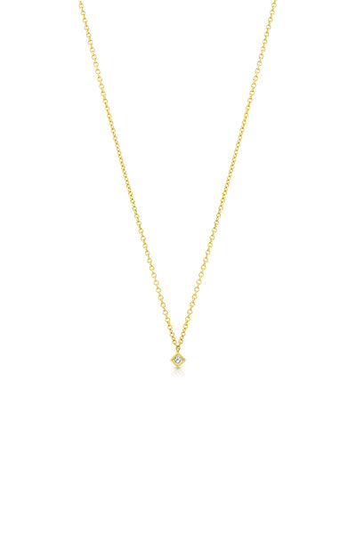 Maliit Princess Necklace - Yellow Gold and White Diamond
