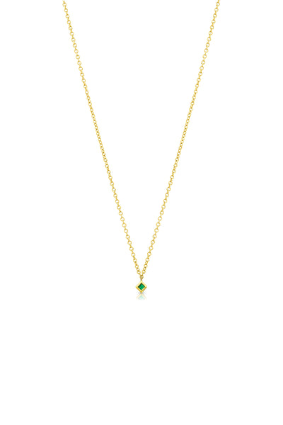 Maliit Princess Necklace - Yellow Gold and Emerald