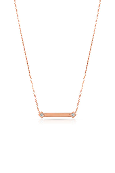 Maliit ID Necklace - Rose Gold