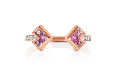 Palaso Open Cuff Ring - Rose Gold