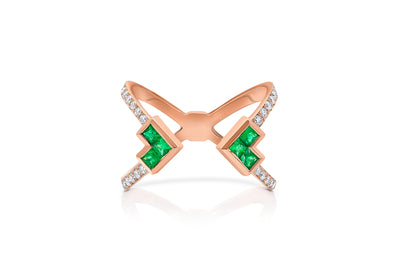 Palaso Open 'X' Ring - Rose Gold