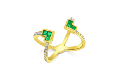 Palaso Open 'X' Ring - Yellow Gold