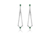 Maharlika 'Tulis' Large Drop Earrings - White Gold and Emerald