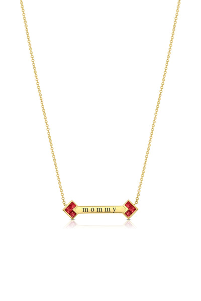 Palaso ID Necklace - Ruby