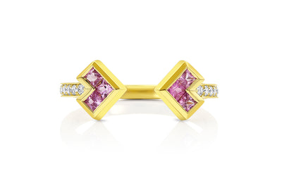 Palaso Open Cuff Ring - Yellow Gold