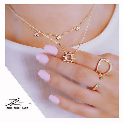 Marikit 'Araw' Single Necklace - Rose Gold