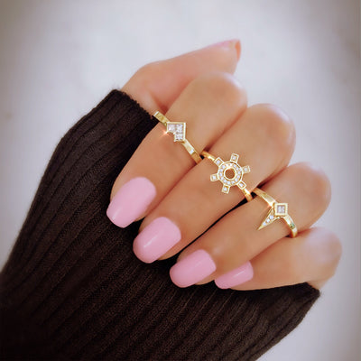 Maharlika Spike Ring - Rose Gold