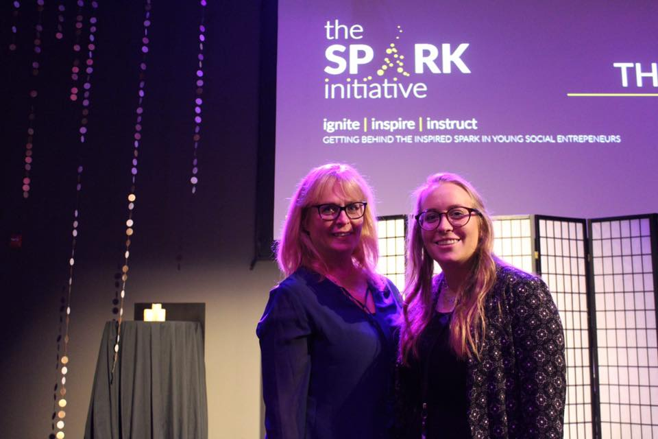 mother and daughter at The Spark Initiative presentation