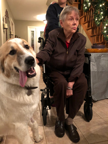 Marilyn Thompson who lives with dementia, and her granddog Mia