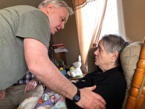 Marilyn Thompson, who lives with dementia, and her son Wendell Thompson