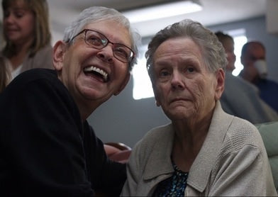 woman with dementia and her sister