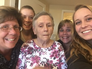 family photo with dementia grandma