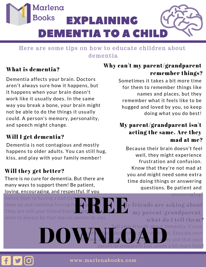 How to Explain Dementia to a Child - Free Download!