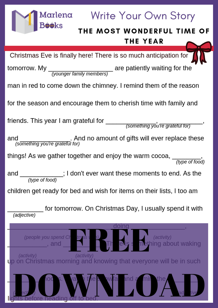 The Most Wonderful Time of the Year Mad Lib Free Download!