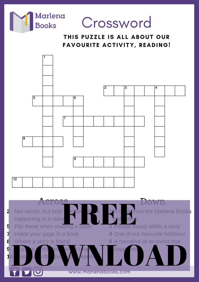 Marlena Books Crossword Free Download!