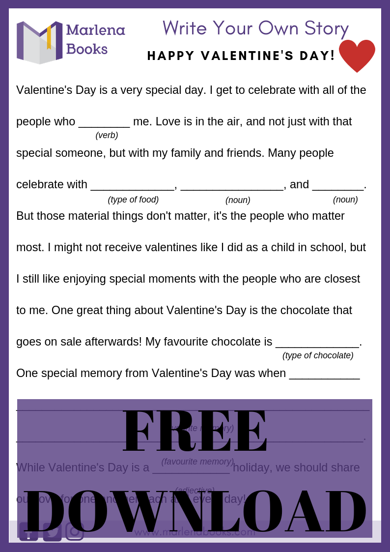 Valentine's Day Mad Lib Free Download!
