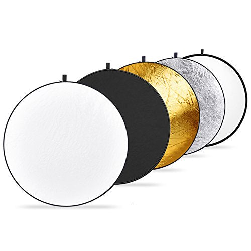 Neewer 5-in-1 Collapsible Light Reflector - Translucent, Silver, Gold, White and Black - Shop The Fox