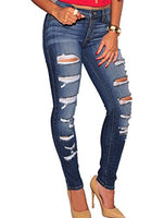 Sidefeel Women Denim Skinny Jeans - Shop The Fox