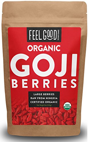 Organic Goji Berries - 8oz Resealable Bag - Shop The Fox