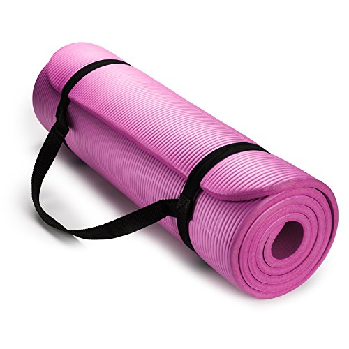 High Density Exercise Yoga Mat with Carrying Strap - Shop The Fox