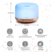 ASAKUKI 500ml Essential Oil Diffuser - Shop The Fox