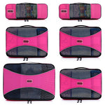 Pro Packing Cubes 6 Piece Lightweight Travel Cube Set of Compression Organizers - Shop The Fox