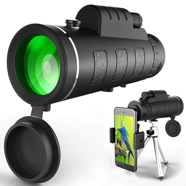 Monocular Telescope, High Power & HD Monocular With Universal Smartphone Holder - Shop The Fox