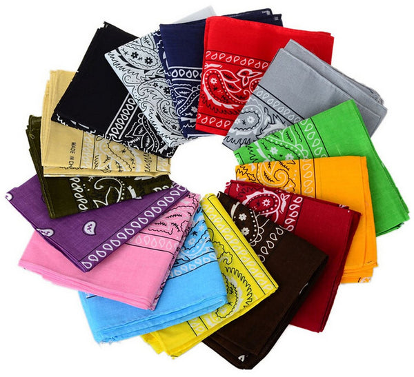 12pcs Bandanas 22 X 22 Inch - Shop The Fox
