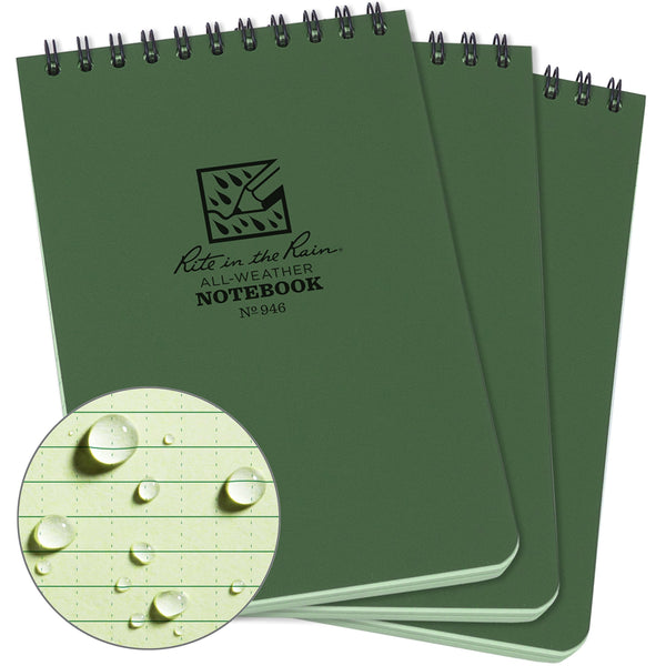 Rite in the Rain Weatherproof Top-Spiral Notebook - Shop The Fox