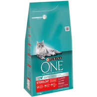 Purina One Sterilcat Beef & Wheat - 1.5kg