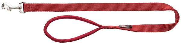 Trixie Premium Leash L–XL 1.00m/25mm Burgundy